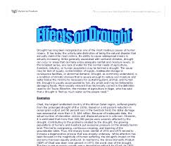 effects on drought a level geography marked by teachers com document image preview