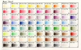 Colour Chart Derwent Coloursoft Range By Davidrak