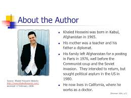 introduction and context the kite runner by khaled hosseini ppt about the author khaled hosseini was born in kabul in 1965 3 about the kite runner ldquo