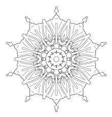 Small Picture 4 Adult Coloring Pages PDF Mandala Snowflake Flowers