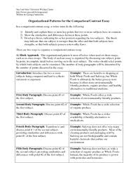 Organizational Patterns For The Comparison Contrast Essay