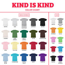 T Shirt Color Chart Black Heart Mens T Shirt In White Sold By Kind Is Kind