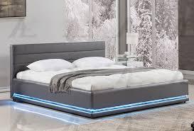 Evita Modern Platform Bed With Lights