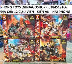 Chính hãng] Lắp ráp xếp hình set 4 bộ Lego Ninjago SEASON 13 DLP 910 : Rồng  thần và tê giác của chiến binh NINJA giá cạnh tranh