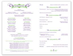 sample wedding program wording a wedding program is a great way to include guests at the wedding