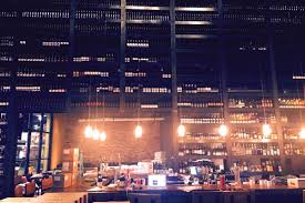 Design And Wine Summerlin Behold The Grape Street Cafe Two Story Wine Wall Eater Vegas