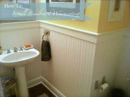 how to install beadboard in bathroom