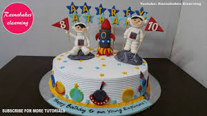 Space Birthday Cake Designs Space Planet Galaxy Rocket Birthday Cake Ideas Design Decorating Tutorial Video At Home