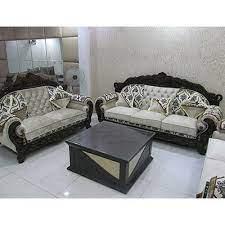 rexine 5 seater designer sofa set
