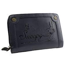 かわいいスヌーピーのイラストが刻印されたおしゃれな二つ折り財布snoopy E Monoイーモノ