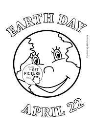 Earth Day Coloring Pages For Kids Printable Free Coloing 4kidscom