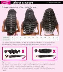 Bundle Hair Length Chart Unice Hair Icenu Series 100 Human Virgin Hair 3 Bundles