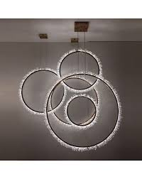 icy rings led crystal pendant light vertical replica
