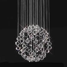 3 light crystal ball pendant chandelier lovely sparkling floating crystal ball pendant chandelier 3 sizes