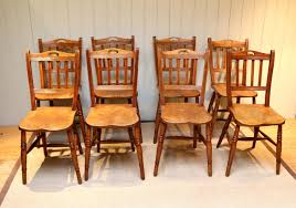 Chair : Unusual Set Of Eight Beech And Elm Dining Chairs English ...