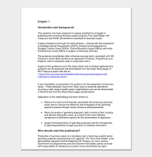 Business Case Template 9 Simple Formats For Word Excel Pdf