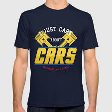 Auto Tshirt Design Mens I Just Care About Cars And Maybe 4 People Design Auto Tee Graphic T Shirt
