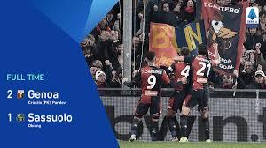 Genoa-Sassuolo 2-1 highlights e gol: il