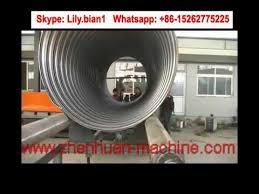 super large diameter 6 meters metal corrugated culvert pipe making machine