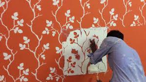 Asian Paints Royale Stencil Designs Asian Paints Grapevine Stencil Youtube