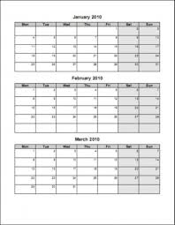 Sample 3 Month Calendar Template 24 Month Printable Calender Seven Photo 3