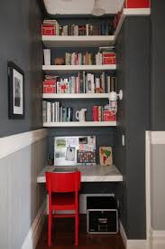 tiny office ideas. Move Your Storage Up Top For A Small Home Office To Keep The Floor Less Cluttered Tiny Ideas
