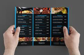 025 Template Ideas Take Out Menu Trifold Restaurant Back Tri