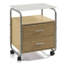 appealing mini filing cabinets bamboo construction two drawer