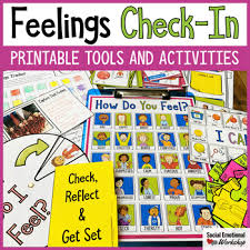 Feelings Check In Activities And Feelings Chart For Social Emotional Learning
