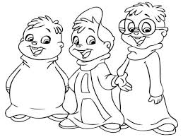 Small Picture Alvin And The Chipmunks Coloring Pages Printable Cartoon