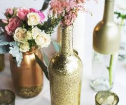 DIY Paint Dipped Wine Bottle Vases  Empty Glass Bottles Fill In As  Gorgeous Wedding Centerpieces