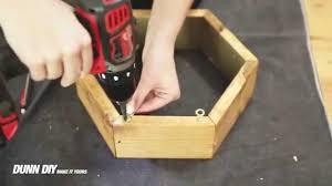 how to make a hexagon shelf