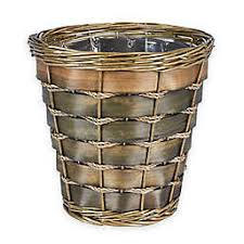 Household Essentials® Small Haven Willow And Poplar Wicker Wastebasket