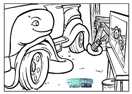 Simple Monster Truck Coloring Pages Printable Coloring Page For Kids