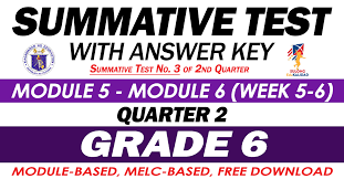 Other links to answer key in mapeh grade 9: Grade 6 Summative Test With Answer Key Modules 5 6 2nd Quarter Deped Click