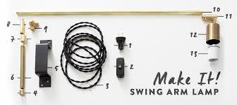 swing arm light. DIY Swing Arm Lamp Light