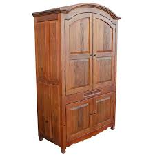 details about southwest tall armoire wardrobe closet natural brown solid wood bedroom storage