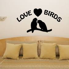 wall art love birds