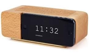 areaware decorative alarm dock for iphone 5 natural