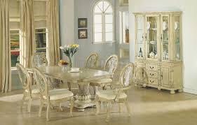 inspiring antique white dining set antique white finish dining table wdouble pedestal base