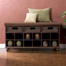 ... Storage Ideas, Cool Shoe Storage Bench Ikea Home Ideas With Cushions  And Shelf And Drawers ...