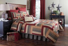 beautiful high quality bedding collections from park designs hearth and home features classic patchwork of mustard tan barn red and gray