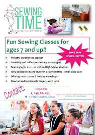 crafts classes for kids flyers sewing time sewing classes lessons for kids activeactivities
