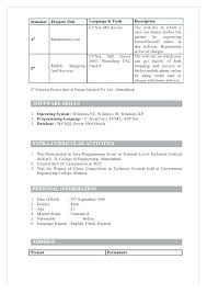 Sample Resume For Fresher Software Engineer Resume For Science