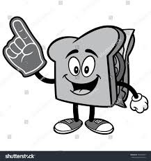 foam finger clipart. sandwich with foam finger illustration clipart