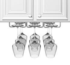 under cabinet wine glass rack. Amazon.com: Sorbus Under Cabinet Wine Glass Rack And Stemware Holder \u2013 3 Rows Holds Up To 9 Of Your Most Delicate Glassware: Kitchen \u0026 Dining