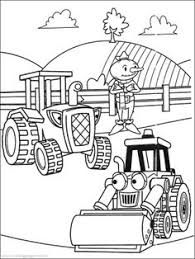 Small Picture Scoop The Excavator Vehicle Coloring Pages Bob The Builder