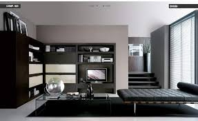 living room with black furniture. Black-loungebed-livingroom Living Room With Black Furniture U