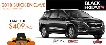 lease a 2018 buick enclave at miller buick gmc