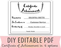 customer service award template achievement award etsy